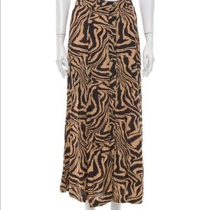 GANNI animal print skirt